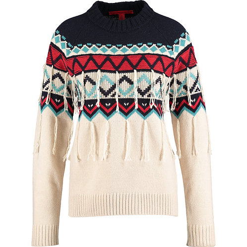 HILFIGER COLLECTION Fringed Fair Isle Jumper (RARE & COLLECTABLE)