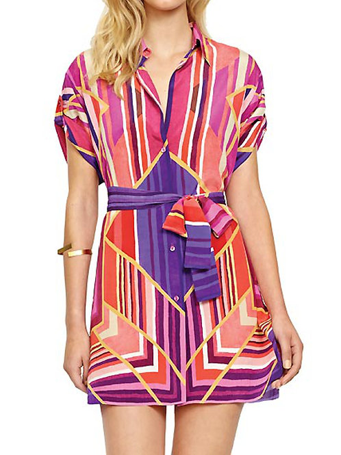 GOTTEX COLLECTION Art Deco Silk Shirt Cover Up (RARE & COLLECTABLE)