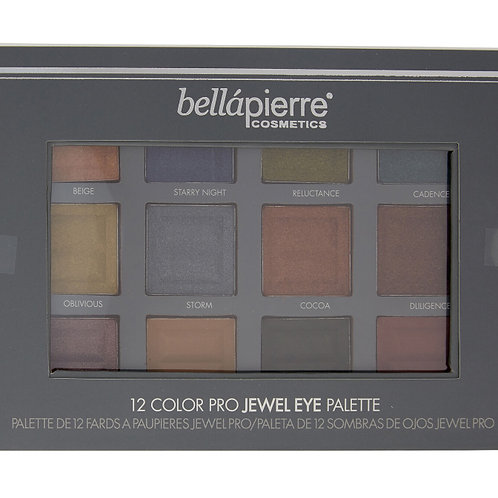 BELLAPIERRE Twelve Colour Pro Jewel Eye Palette