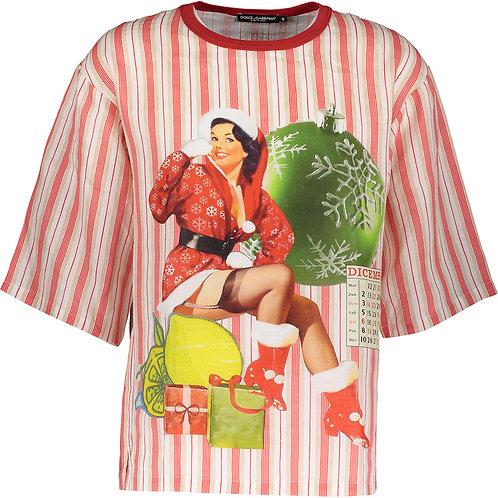 DOLCE & GABBANA Stripe Linen T-Shirt (RARE & COLLECTABLE)