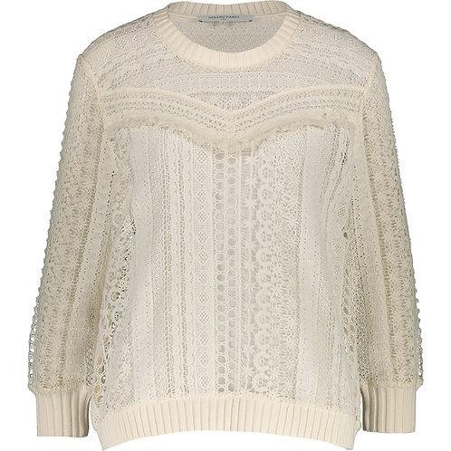 GERARD DAREL PARIS Cream Floral Crochet Jumper (RARE & COLLECTABLE)