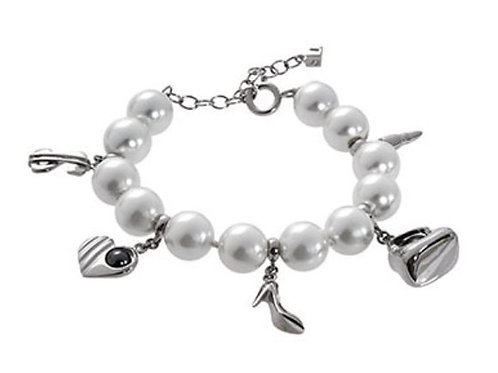 MISAKI 925 Sterling Silver Madison Bracelet with Cultured Pearls (RARE & COLLEC)