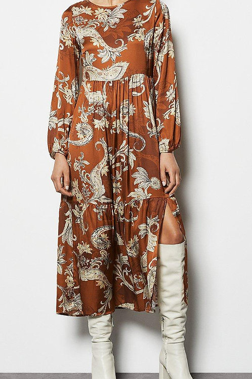 KAREN MILLEN Paisley Print Tiered Maxi Dress (RARE & COLLECTABLE)