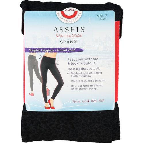SPANX Assets Red Hot Label Black Animal Print Shaping Leggings