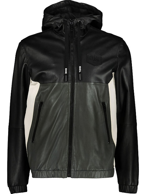 DIESEL Leather Hooded Jacket (RARE & COLLECTABLE)