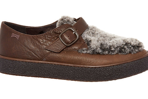 CAMPER Ambar Faux Fur Leather Loafers