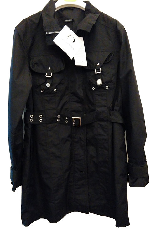 SOS JENSEN Waldau Black Military Trench Coat (RARE & COLLECTABLE)