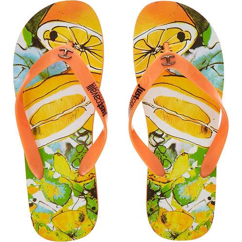 JUST CAVALLI Citrus Fruit Flip Flops(RARE & COLLECTABLE)