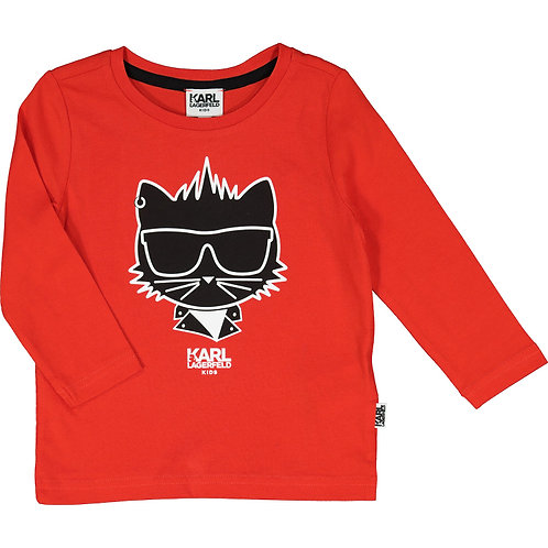 KARL LAGERFELD Cool Cat Long Sleeve T-Shirt (RARE & COLLECTABLE)