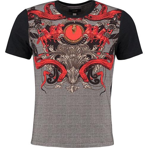 CLASS CAVALLI Pattern Men's T-Shirt (RARE & COLLECTABLE)