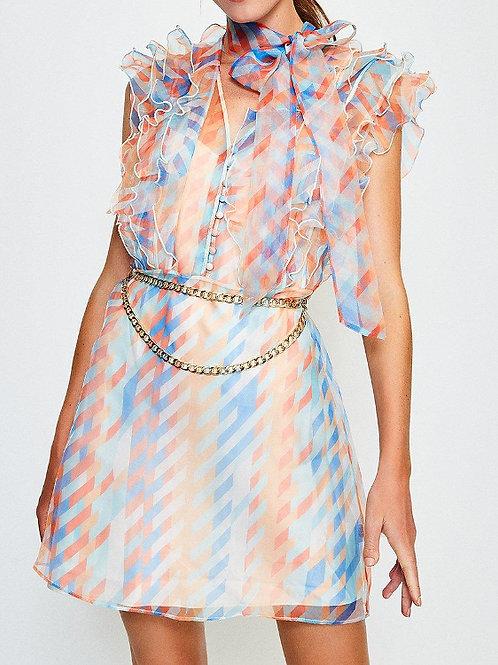 KAREN MILLEN Organza Print Dress(RARE & COLLECTABLE)
