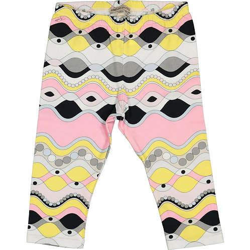 PUCCI Baby Multicolour Patterned Designer Leggings  (RARE & COLLECTABLE)