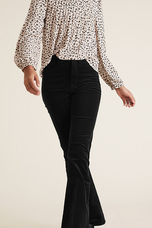 M&S COLLECTION Magic Shaping Cord High Waisted Flared Trousers T57/7324