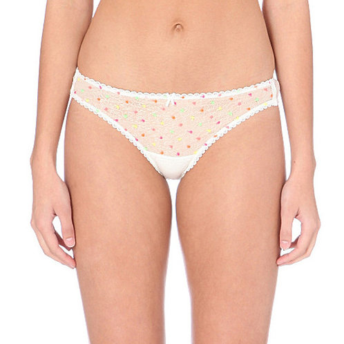 MIMI HOLLIDAY Parakeet Lace and Silk Brief (RARE & COLLECTABLE)