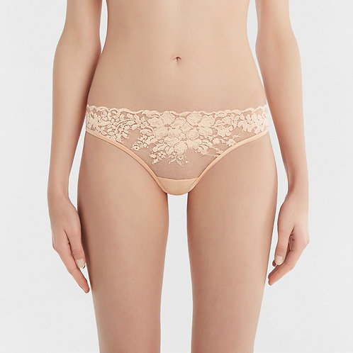LA PERLA Azalea Thong in Leavers Lace and Silk Georgette (RARE & COLLECTABLE)