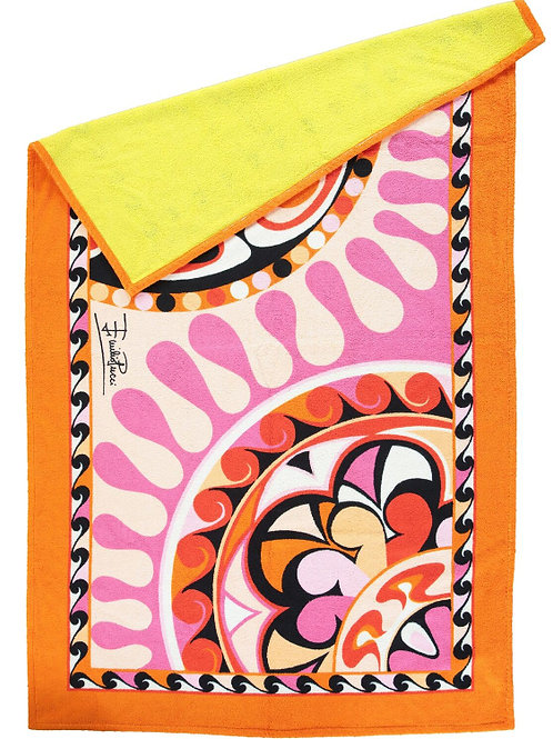 EMILIO PUCCI Multicoloured Abstract Beach Towel (RARE & COLLECTABLE)