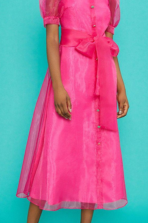 COAST Square Neck Organza Belted Dress(RARE & COLLECTABLE)