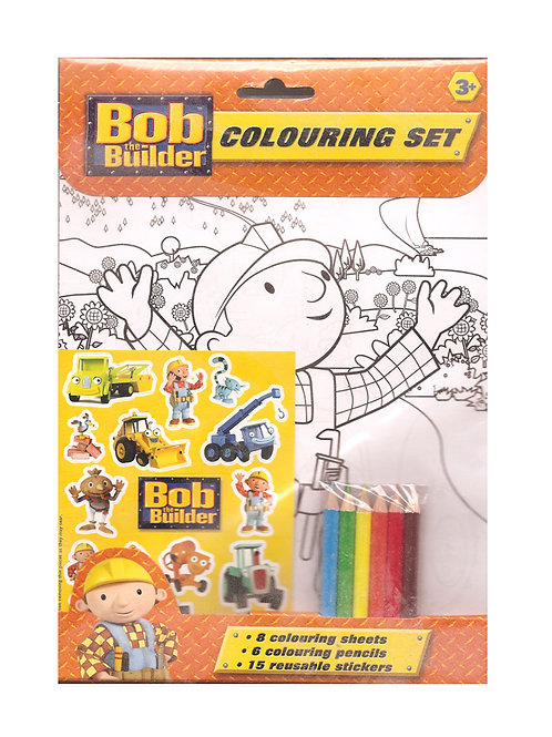 BOB the BUILDER Colouring Set For Kids Age 3+