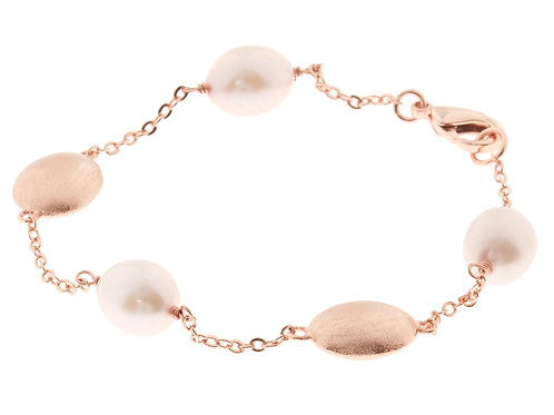 Kyoto Pearl 18ct Rose Gold Plated Pearl Bracelet (RARE & COLLECTABLE)