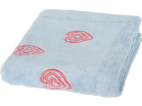 PRATESI Embroidered Hearts Bath Towel (RARE & COLLECTABLE)