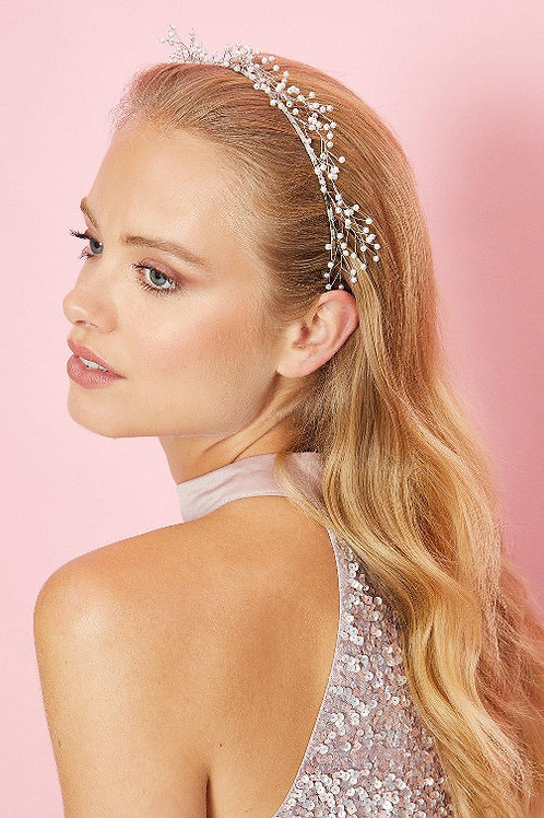 COAST Pearl And Wire Metal Headband (RARE & COLLECTABLE)