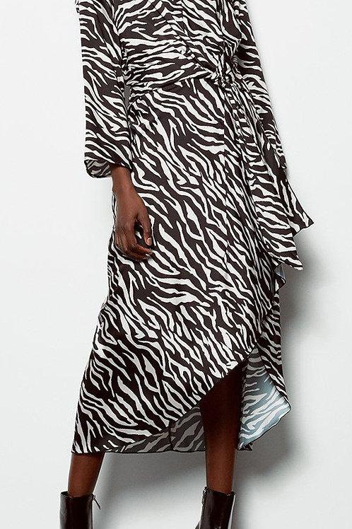 KAREN MILLEN Twist Satin Front Midi Dress (RARE & COLLECTABLE)