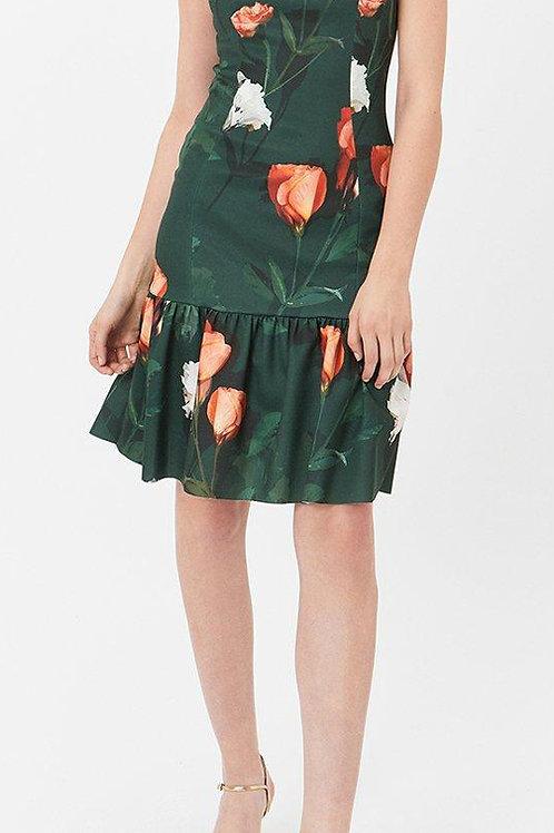 COAST Printed Scuba Ruffle Hem Dress(RARE & COLLECTABLE)