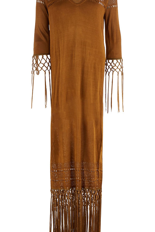 GUESS By MARCIANO Long Sleeve Tassel Dress (RARE & COLLECTABLE)