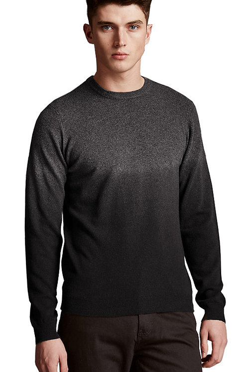 M&S By AUTOGRAPH Merino Wool Rich Slim Fit Dip Dye Jumper with Cashmere