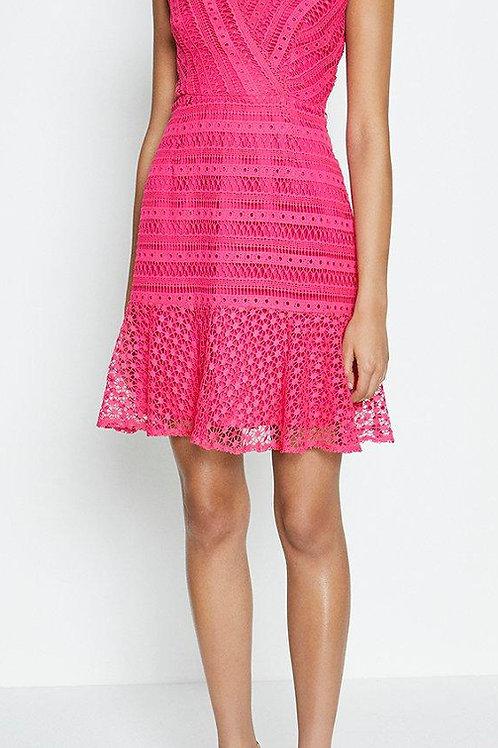 COAST Lace Frill Hem Wrap Dress(RARE & COLLECTABLE)