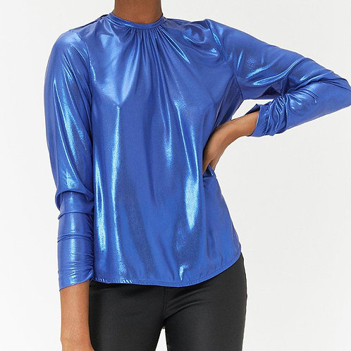 COAST Cowl Back Metallic Blouse (RARE & COLLECTABLE)