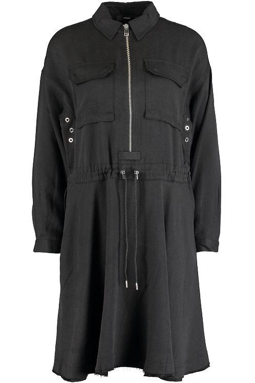DIESEL Black Zip Down D-Raniet Cargo Dress(RARE & COLLECTABLE)