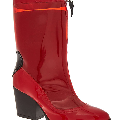 LOVE MOSCHINO PVC Heeled Boots (RARE & COLLECTABLE)