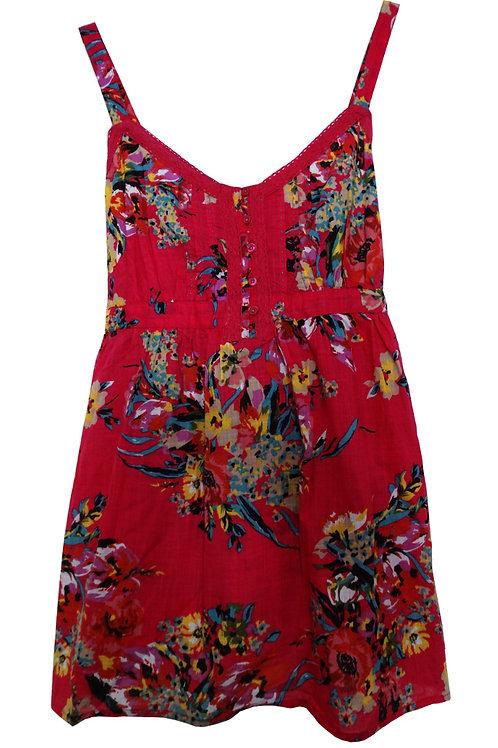 MARKS & SPENCER WOMAN Pink Floral Vest Top T41-5173F