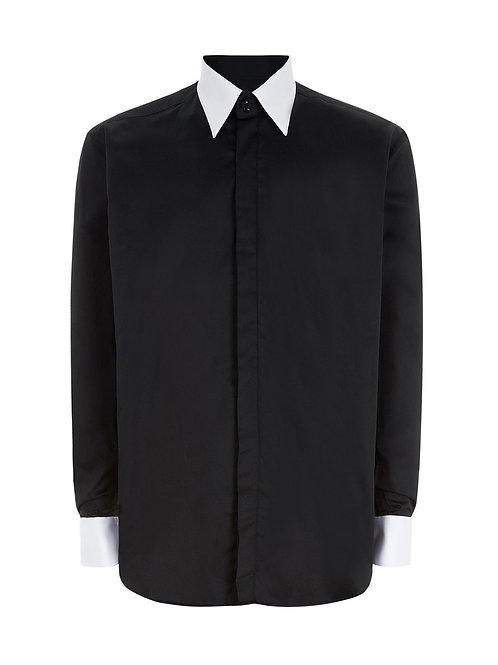 WILLIAM HUNT Mens Black & White Shirt (RARE & COLLECTABLE)