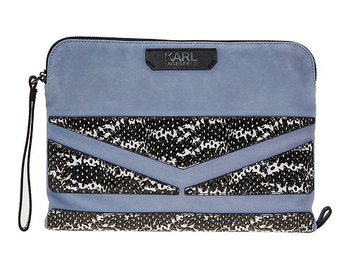 KARL LAGERFELD Suede Clutch Bag (RARE & COLLECTABLE)