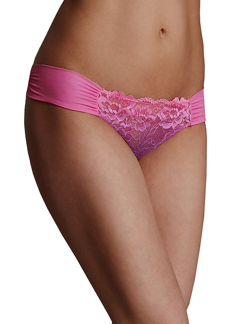 M&S COLLECTION Purple Rio Sweetheart Lace Brazilian Knickers T610028D