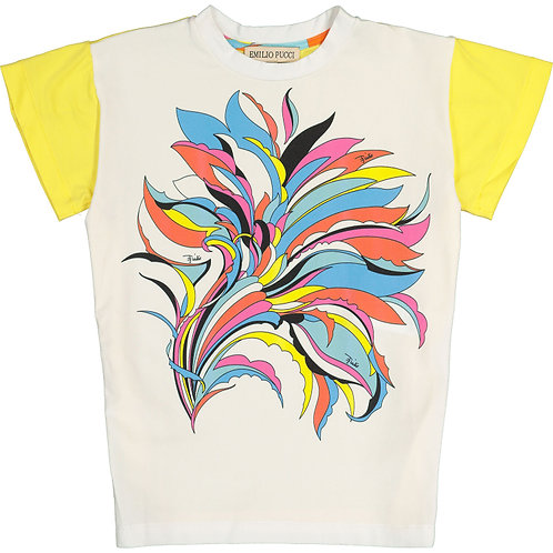 EMILIO PUCCI Girls Multicolour Patterned T-Shirt(RARE & COLLECTABLE)