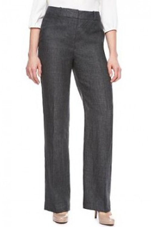 M&S COLLECTION Pure Linen Charcoal Trousers T57/9230