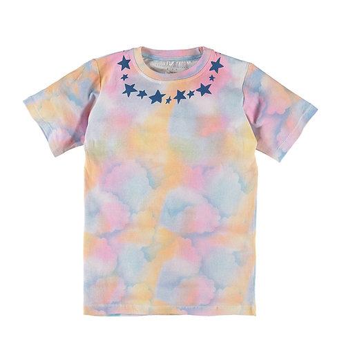 STELLA McCARTNEY Kids Bluebell Unisex Pastel Tone Stars T-Shirt (RARE & COLLECT)