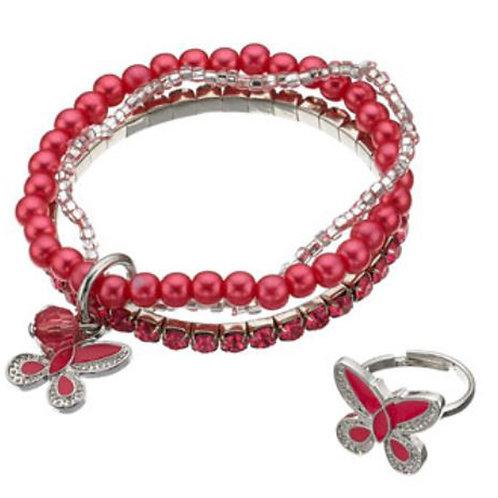 MONSOON 3 Beaded Bracelet and Ring Set