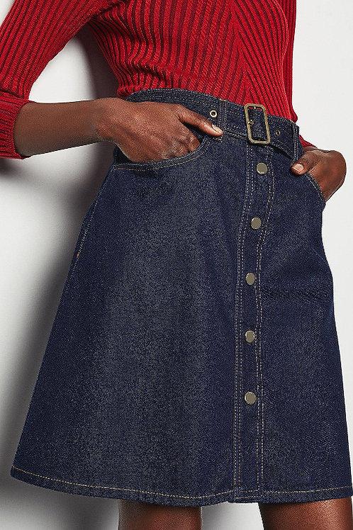 KAREN MILLEN Denim A-line Mini Skirt (RARE & COLLECTABLE)