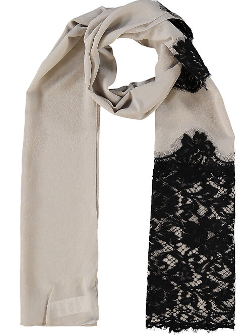 DOLCE & GABBANA Silk Blend Lace Scarf (RARE & COLLECTABLE)