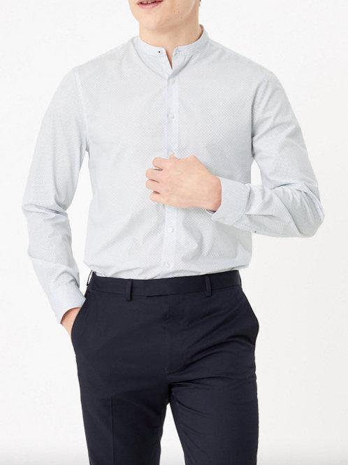 M&S By AUTOGRAPH Slim Fit Pure Cotton Geo Print Shirt T11/0722A