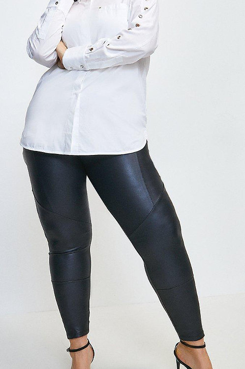 KAREN MILLEN Curve Biker Seam Detail Faux Leather Legging(RARE & COLLECTABLE)