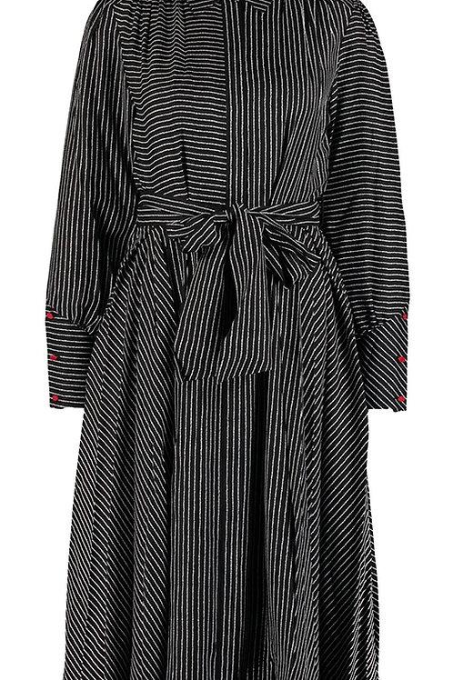 LULU GUINNESS Darcy Pin Stripe Midi Dress(RARE & COLLECTABLE)
