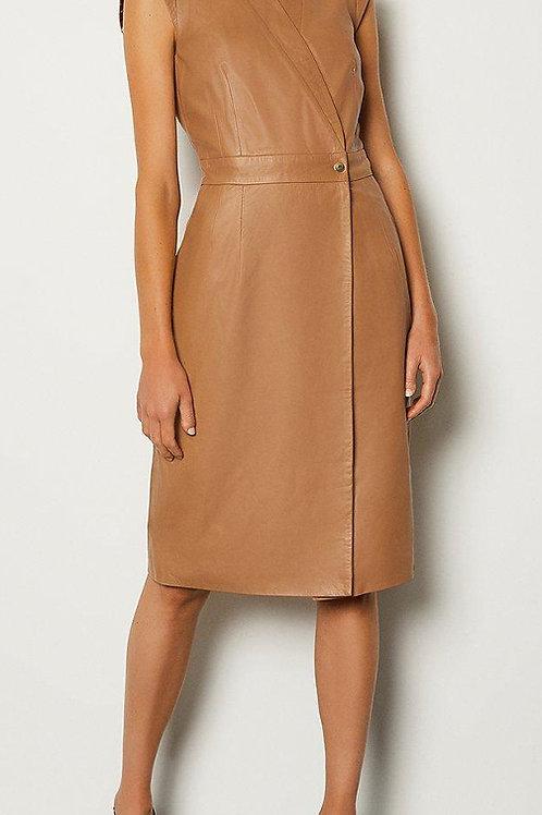 KAREN MILLEN Leather Wrap Dress(RARE & COLLECTABLE)