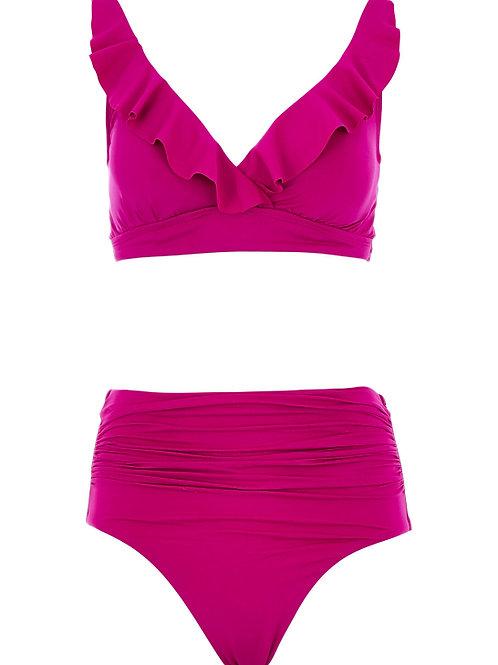 LAUREN RALPH LAUREN Ruffled High Waisted Bikini(RARE & COLLECTABLE)