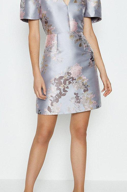COAST Puff Sleeve Jacquard Dress(RARE & COLLECTABLE)