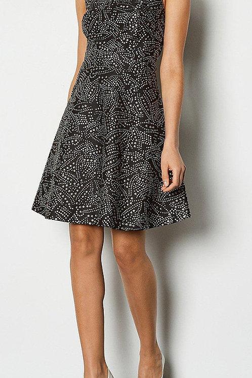 KAREN MILLEN Striped Sparkly Skater Dress(RARE & COLLECTABLE)